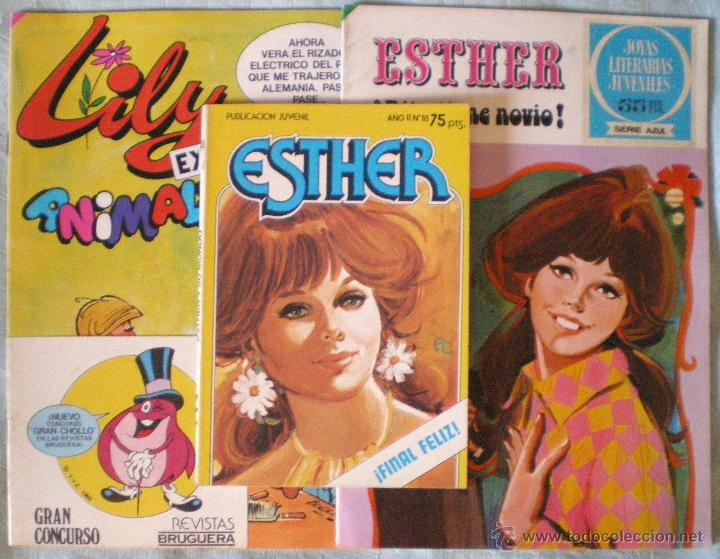 COMIC TEBEO ESTHER JOYAS LITERARIAS 9 JUVENIL 18 PURITA CAMPOS-LILY EXTRA 80 LOTE TRES COMICS NUEVOS (Tebeos y Comics - Bruguera - Esther)