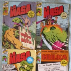 Tebeos: COMIC HULK LA MASA 7-17-26-27-28-30 BRUGUERA MARVEL LOTE 7 COMICS 1981 HULKA 24 NUEVOS 1987. Lote 51725520