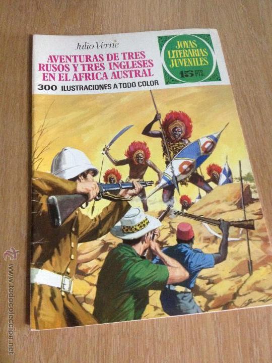 JOYAS LITERARIAS JUVENILES Nº 28. RUSOS INGLESES AFRICA. 1ª EDICION 1971. BRUGUERA. LABERINTO ROJO. (Tebeos y Comics - Bruguera - Joyas Literarias)