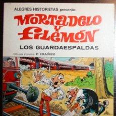 Tebeos: MORTADELO Y FILEMÓN - LOS GUARDAESPALDAS - F. IBAÑEZ - ED. BRUGUERA - 1ª EDICIÓN 1981. Lote 51799821