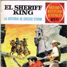 Tebeos: EL SHERIFF KING NUMERO 20 LA HISTORIA DE GRECKO STORM 1ª EDICION 1972. Lote 51815255