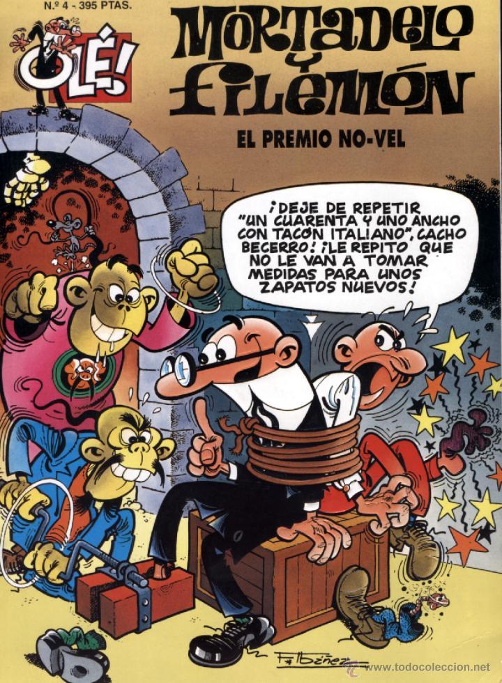 MORTADELO Y FILEMÓN. OLÉ Nº 4 EL PREMIO NO-VEL - 2ª EDICIÓN JUNIO 1995 (Tebeos y Comics - Bruguera - Ole)