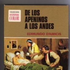 Tebeos: COLECCION HISTORIAS COLOR, DE LOS APENINOS A LOS ANDES, BRUGUERA 1977. Lote 51955135