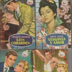 Tebeos: BOLSILIBROS NOVELA ROMANTICA, BRUGUERA, AÑOS 50 LOTE CON FOTO LLUVIA DE ESTRELLAS. Lote 52006757