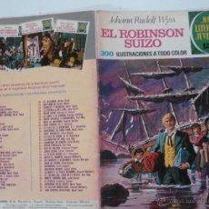 Tebeos: JOYAS LITERARIAS JUVENILES Nº 23.- EL ROBINSON SUIZO. JOHANN RUDOLF WYSS. BRUGUERA 1972. Lote 52062783