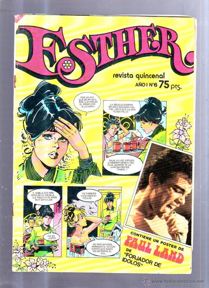 REVISTA QUINCENAL. ESTHER. AÑO I. Nº 6. EDITORIAL BRUGUERA. 15 FEBRERO 1982 (Tebeos y Comics - Bruguera - Esther)