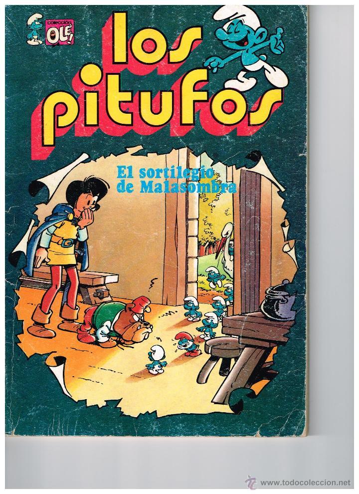 LOS PITUFOS,EL SORTILEGIO DE MALASOMBRA.COLECCIÓN OLÉ.EDIT. BRUGUERA. (Tebeos y Comics - Bruguera - Otros)