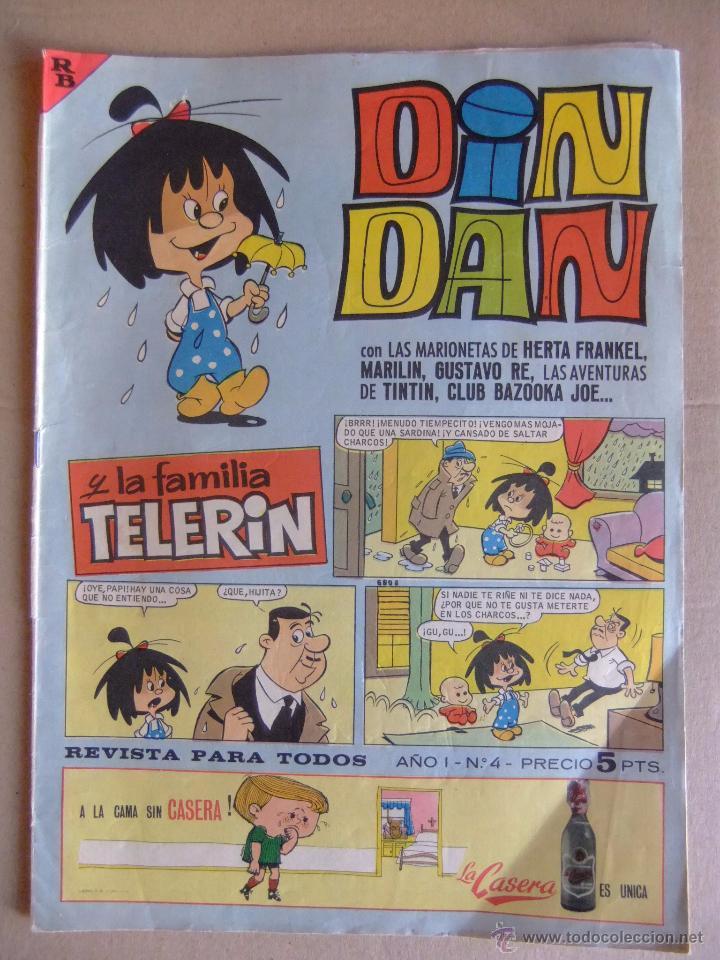 DIN DAN Nº 4 PRIMERA EPOCA MAYO DE 1965 (Tebeos y Comics - Bruguera - Din Dan)
