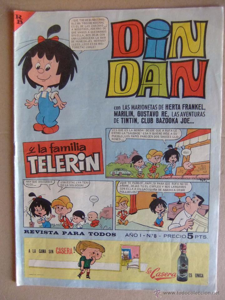 DIN DAN Nº 8 PRIMERA EPOCA JUNIO DE 1965 (Tebeos y Comics - Bruguera - Din Dan)