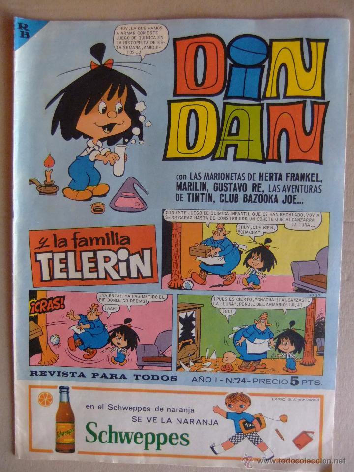 DIN DAN Nº 24 PRIMERA EPOCA OCTUBRE DE 1965 (Tebeos y Comics - Bruguera - Din Dan)