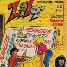 Tebeos: LILY REVISTA JUVENIL FEMENINA NÚMERO 1108 ED. BRUGUERA 1983 POSTER ROBERTO CARLOS. Lote 52942209