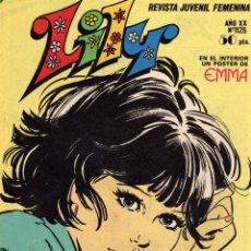 Tebeos: LILY REVISTA JUVENIL FEMENINA NÚMERO 1125 ED. BRUGUERA 1983. Lote 52942512