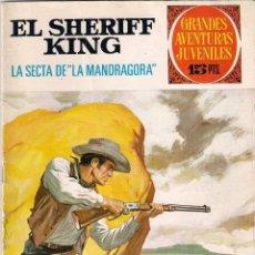 Tebeos: GRANDES AVENTURAS JUVENILES. EL SHERIFF KING. Nº 30. 1º EDICIÓN.. Lote 53117518