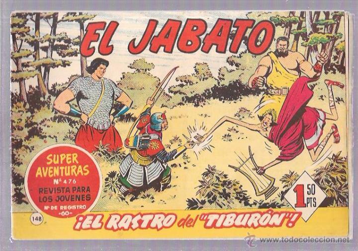 EL JABATO. Nº148. ¡EL RASTRO DEL TIBURÓN! (Tebeos y Comics - Bruguera - Jabato)