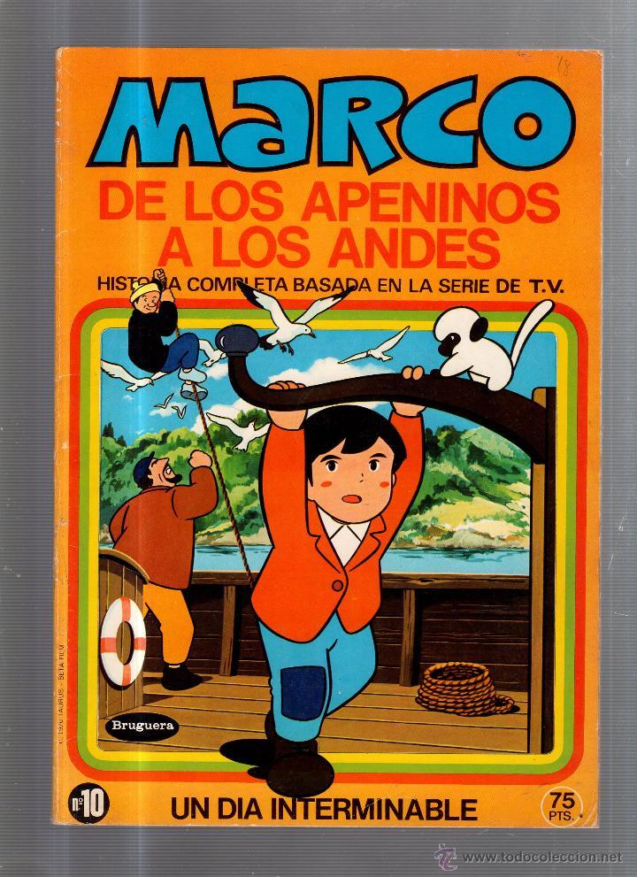 MARCO DE LOS APENINOS A LOS ANDES. UN DIA INTERMINABLE. Nº 10. EDITORIAL BRUGUERA (Tebeos y Comics - Bruguera - Otros)