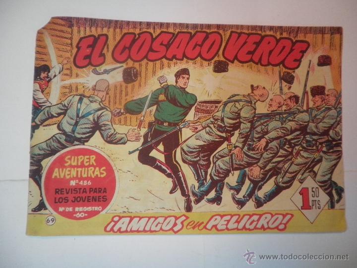 EL COSACO VERDE Nº 69 AMIGOS EN PELIGRO 1961 (Tebeos y Comics - Bruguera - Cosaco Verde)