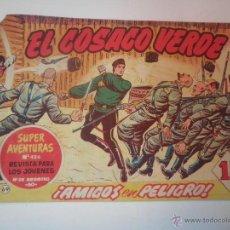 Tebeos: EL COSACO VERDE Nº 69 AMIGOS EN PELIGRO 1961. Lote 53462278