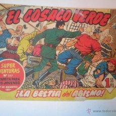 Tebeos: EL COSACO VERDE Nº 26 LA BESTIA DEL ABISMO 1960. Lote 53462327