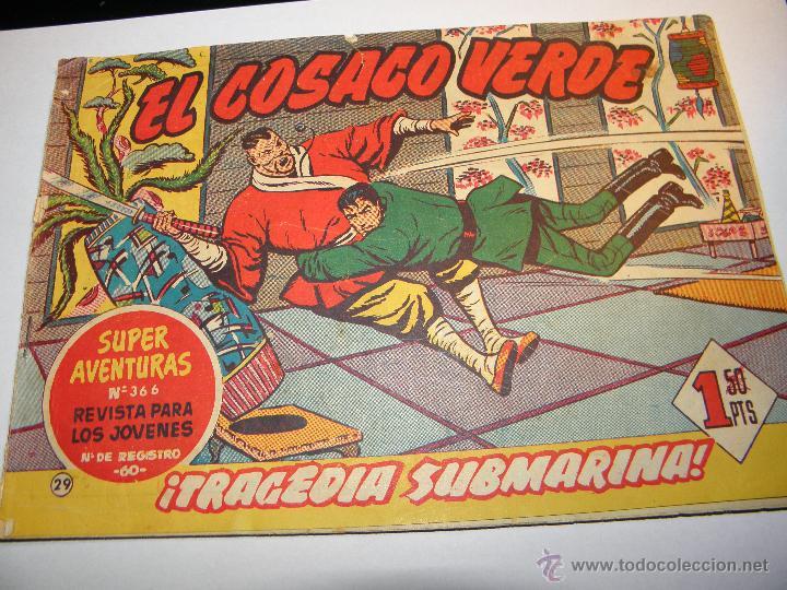 EL COSACO VERDE Nº 29 TRAGEDIA SUBMARINA 1960 (Tebeos y Comics - Bruguera - Cosaco Verde)