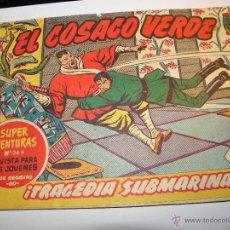 Tebeos: EL COSACO VERDE Nº 29 TRAGEDIA SUBMARINA 1960. Lote 53462526