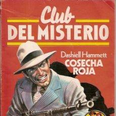 Tebeos: CLUB DEL MISTERIO Nº 1 COSECHA ROJA DASHIELL HAMMETT BRUGUERA 1981. Lote 57387972