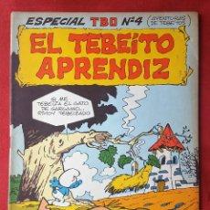 Tebeos: ESPECIAL TBO 4 EL TEBEÍTO APRENDIZ LOS PITUFOS PREVIOS A LA COLECCIÓN OLE PEYO - PRIMERA 1ª EDICIÓN. Lote 53579004
