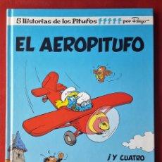 Tebeos: NUEVO LOS PITUFOS - EL AEROPITUFO - 14 EDICIONES B PRIMERA 1ª EDICIÓN PEYO 1992. Lote 53579688