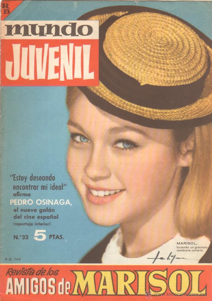 MUNDO JUVENIL Nº 33 ORIGINAL EDI. BRUGUERA 1963 - REVISTA DE LOS AMIGOS DE MARISOL (Tebeos y Comics - Bruguera - Otros)