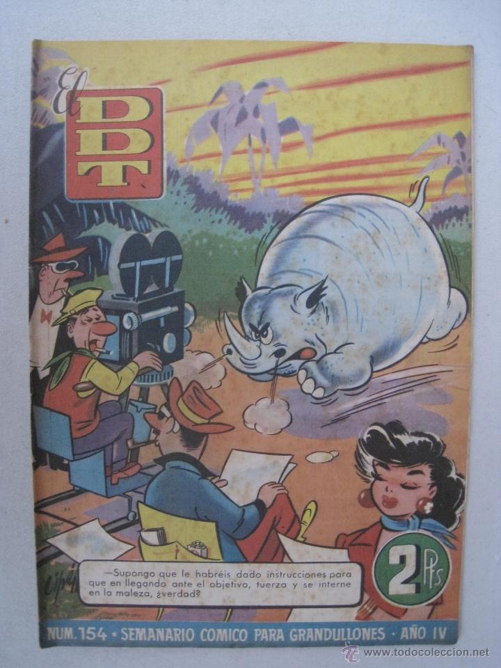 Tebeos: EL DDT Nº 154 - BRUGUERA 1954. - Foto 2 - 53755545