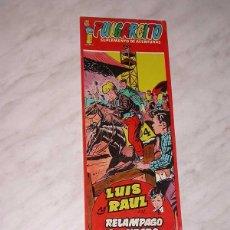 Tebeos: LUIS Y RAUL. RELÁMPAGO NEGRO. SUPLEMENTO AVENTURAS,1251. AVENTURAS Nº 14. BADÍA CAMPS, 1955.+++. Lote 53992057