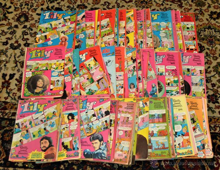 SENSACIONAL LOTE DE 116 REVISTA JUVENIL FEMENINA LILY. EDITORIAL BRUGUERA (Tebeos y Comics - Bruguera - Lily)