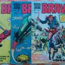 Tebeos: BRAVO Nº 4, 6 Y 27 (BRUGUERA 1968) CON GALAX EL COSMONAUTA (VICTOR MORA-FUENTES MAN) 3 TEBEOS.. Lote 52669053