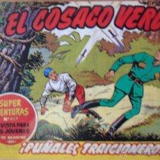 Tebeos: EL COSACO VERDE, ¡PUÑALES TRAICIONEROS!, REEDICIÓN BRUGUERA, 1961. Lote 54363541