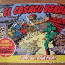 Tebeos: EL COSACO VERDE, ¡EN EL CRÁTER!, REEDICIÓN BRUGUERA, 1961. Lote 54364420