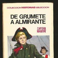 Tebeos: HISTORIAS SELECCION CLASICOS JUVENILES 29 DE GRUMETE A ALMIRANTE. BRUGUERA 1967 F. BLANES. Lote 147497046