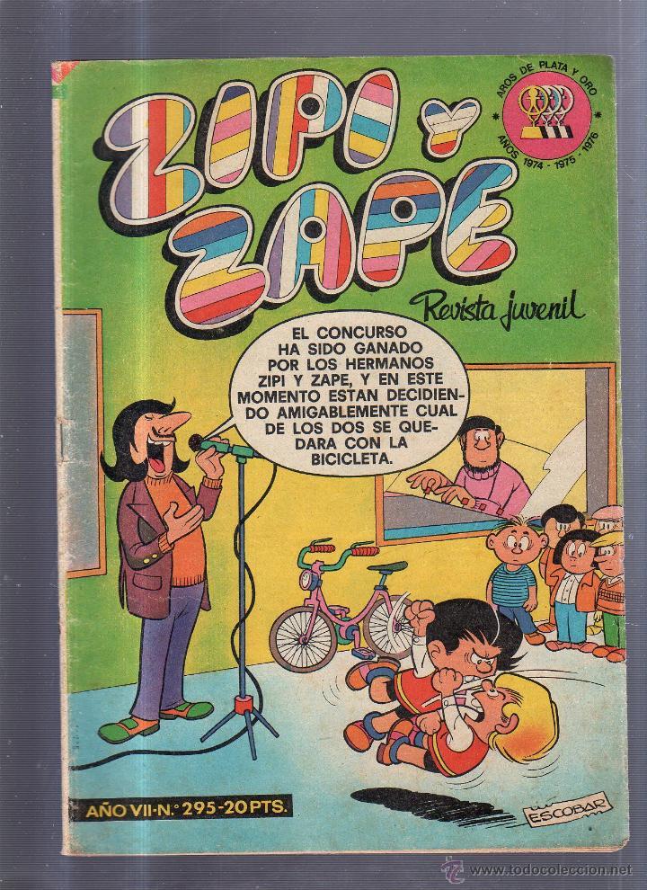 TEBEO ZIPI Y ZAPE. REVISTA JUVENIL. AÑO VII. Nº 295. (Tebeos y Comics - Bruguera - Otros)