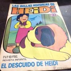 Tebeos: LAS BELLAS HISTORIAS DE HEIDI - Nº 33 EL DESCUIDO DE HEIDO - DE DISTRIBUIDORA DE COMIC, SIN LEER. Lote 54486290