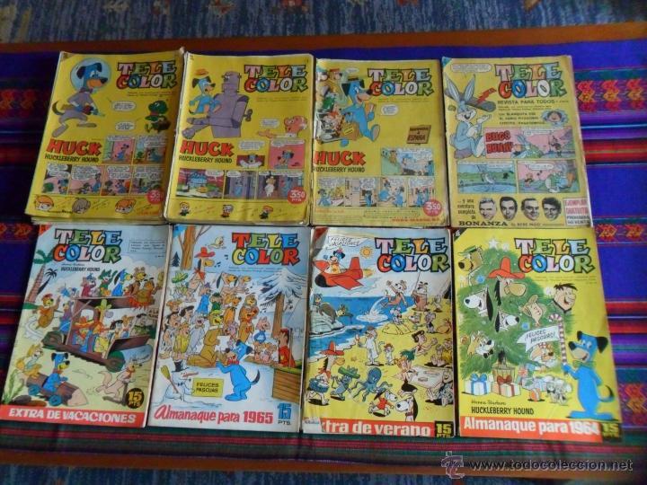 TELE COLOR ALMANAQUE EXTRA VACACIONES 1964 1965 LOTE 36 NºS CON 0 1 2 3 4 5 6 7 8 9 10 11 12 13 14. (Tebeos y Comics - Bruguera - Tele Color)