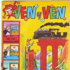 Tebeos: VEN Y VEN ORIGINALES EDI. BRUGUERA 1959 CON EL JABATO EN DOBLE PÁGINA CENTRAL - NºS 1,2,3,5,7. Lote 54704988
