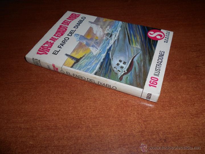 Tebeos: COLECCIÓN HÉROES SELECCIÓN: VIAJE AL FONDO DEL MAR Nº 1 BRUGUERA 1ª EDICIÓN 1968, EL FARO DEL DIABLO - Foto 2 - 54716894