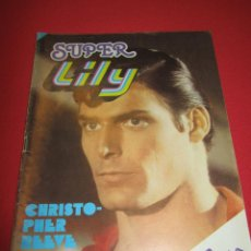 Tebeos: SUPER LILY NUM 39 CHRISTOPHER REEVE, SUPERMAN, SHAUN CASSIDY, JOHN TRAVOLTA, ROD STEWART. Lote 54724500