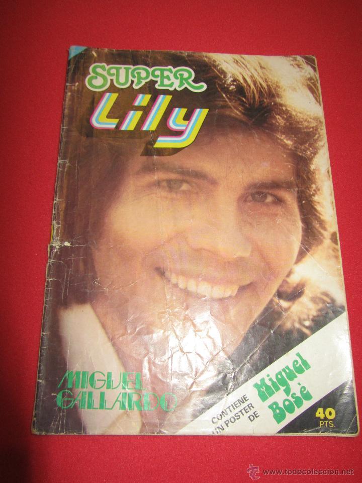 SUPER LILY 45 MIGUEL GALLARDO, CAMILO SESTO, EL SANTO, SHAUN CASSIDY, RICHARD HATCH, DUSTIN HOFFMAN, (Tebeos y Comics - Bruguera - Lily)
