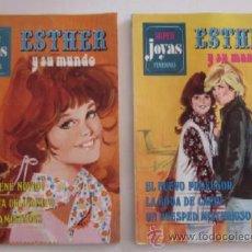 Tebeos: DOS COMICS ESTHER Y SU MUNDO - SUPER JOYAS FEMENINAS. Lote 54916487