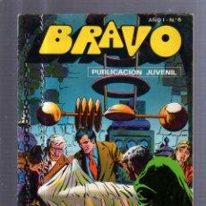 Tebeos: TEBEO BRAVO. AÑO I. Nº 6. PUBLICACION JUVENIL. Lote 55043617