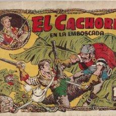 Tebeos: EL CACHORRO Nº 85, IRANZO. EDITORIAL BRUGUERA, ORIGINAL 1954. EL CACHORRO EN LA EMBOSCADA. Lote 55159545
