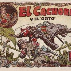 Tebeos: EL CACHORRO Nº 98, IRANZO. EDITORIAL BRUGUERA, ORIGINAL 1955. EL CACHORRO Y EL GATO. Lote 55159987