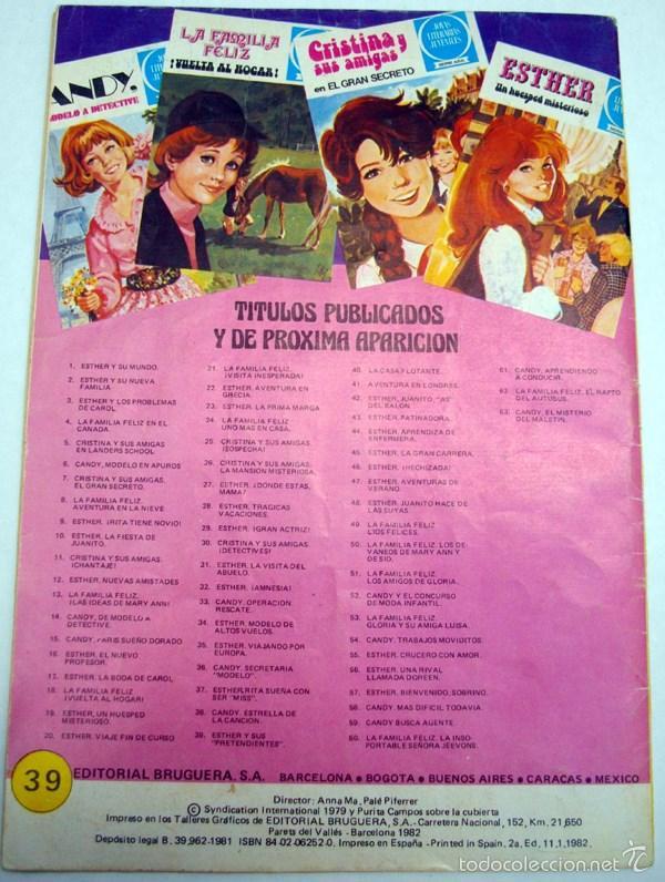 Tebeos: JOYAS LITERARIAS JUVENILES. SERIE AZUL. Nº39. ESTHER Y SUS PRETENDIENTES.BRUGUERA 2ª EDI. 1982 - Foto 2 - 55890229