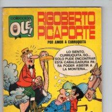 Tebeos: RIGOBERTO PICAPORTE - COLECCIÓN OLÉ Nº 34 - PRIMERA EDICIÓN - NÚMERO EN LOMO - BRUGUERA - AÑO 1971.. Lote 55932382