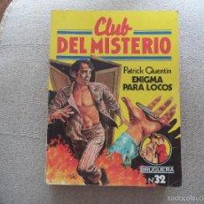 Tebeos: COMIC CLUB DEL MISTERIO . ENIGMA PARA LOCOS... Lote 56019173