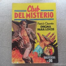 Tebeos: COMIC CLUB DEL MISTERIO . ENIGMA PARA LOCOS... Lote 56019187